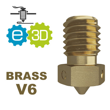 E3D Genuine BRASS Nozzle - V6