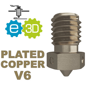 E3D Genuine PLATED COPPER Nozzle - V6