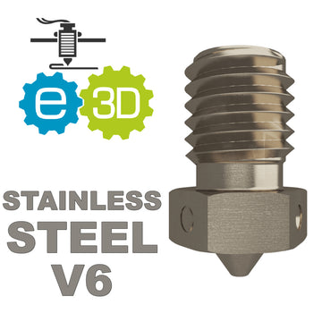 E3D Genuine STAINLESS STEEL Nozzle - V6
