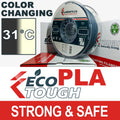 EcoTough™ Color Changing PLA - Grey to Natural by Temperature - 1.75mm