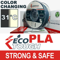 EcoTough™ Color Changing PLA - Grey to Natural by Temperature - 2.85mm