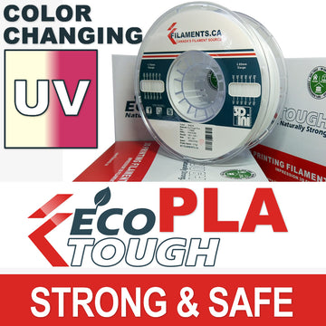 EcoTough™ Color Changing PLA - Natural to Purple by UV - 1.75mm