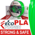 EcoTough™ PLA Filament - TRANSLUCENT GREEN - 2.85mm