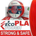 EcoTough™ PLA Filament - TRANSLUCENT RED - 2.85mm