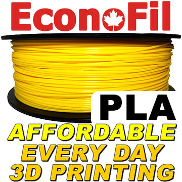 EconoFil™ Standard PLA Filament 1KG - Dark Yellow - 2.85mm