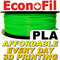 EconoFil™ Standard PLA Filament 1KG - Green - 2.85mm