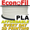EconoFil™ Standard PLA Filament 1KG - Natural White - 2.85mm