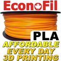 EconoFil™ Standard PLA Filament 1KG - Orange - 2.85mm