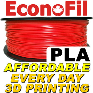 EconoFil™ Standard PLA Filament 1KG - Red - 2.85mm