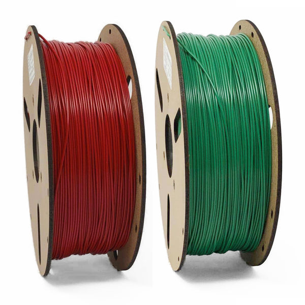 EurekaTec PLA Chrustmas Red Green 3D Filament Bundle Canada