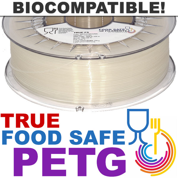 True Food Safe PETG Biocompatible 3D Printing Filament Canada