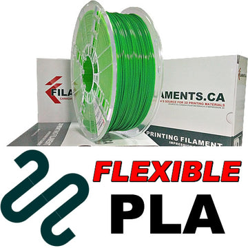 Flexible PLA Filament - GREEN - 1.75mm