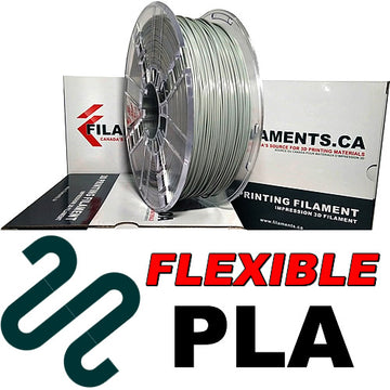 Flexible PLA Filament - GREY - 1.75mm