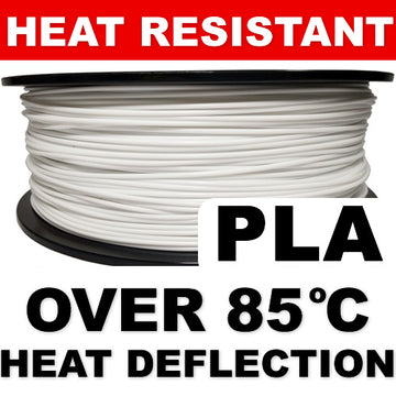 Heat Resistant PLA - White - 2.85mm