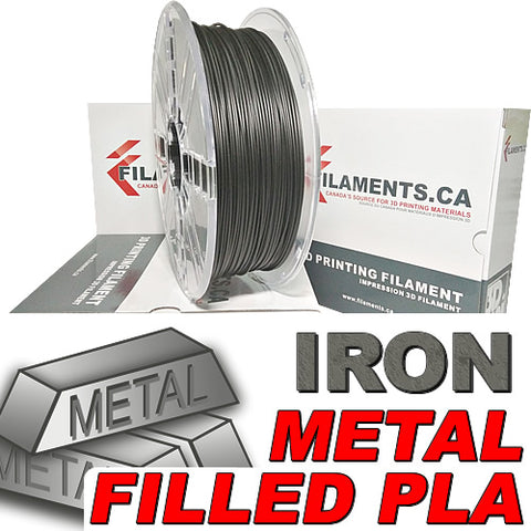 Iron metal fill 3d printer filament Canada