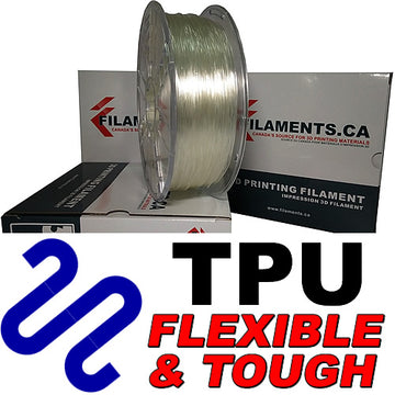 Polyurethane TPU Filament - NATURAL - 2.85mm