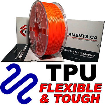 Polyurethane TPU Filament - Orange - 2.85mm