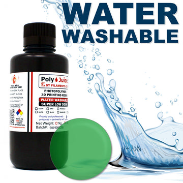 PolyJuice WATER WASHABLE Resin - Transparent Green