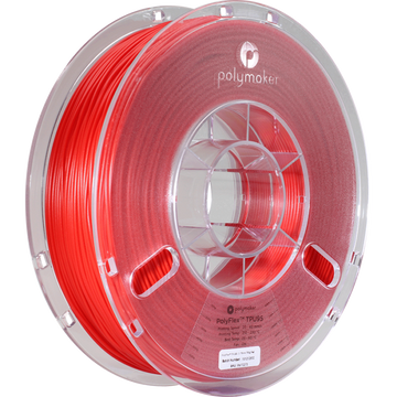 PolyFlex™ TPU95 Flexible Filament - Red - 1.75mm