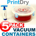 PrintDry Vacuum Sealed Filament Container - 5 PACK