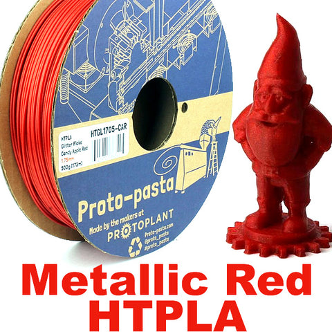 Proto-Pasta Candy Apple Metallic Red HTPLA 3D filament Canada