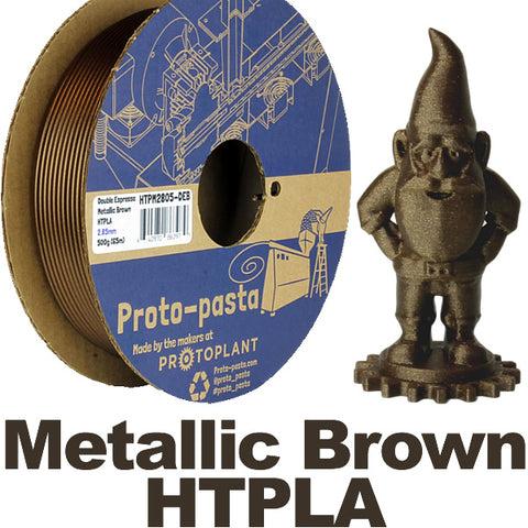 Proto-Pasta Double Espresso Metallic Brown HTPLA Canada