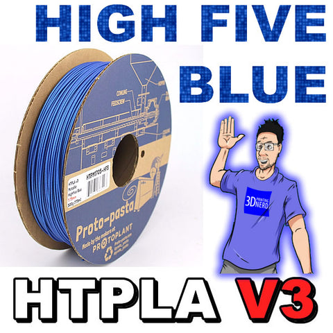 Proto-Pasta HTPLA v3 HighFive Blue Strong PLA 3D Printer Filament Canada