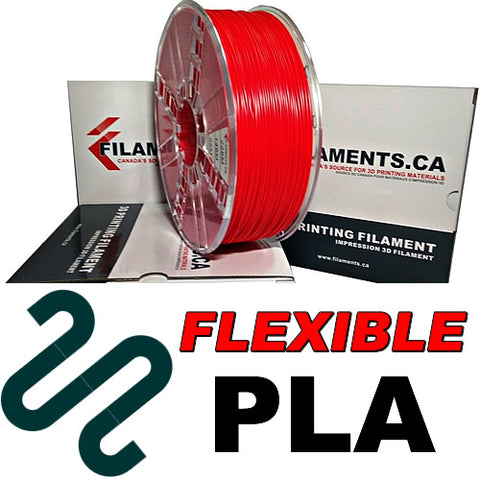 Flexible PLA 3d printer filament Canada