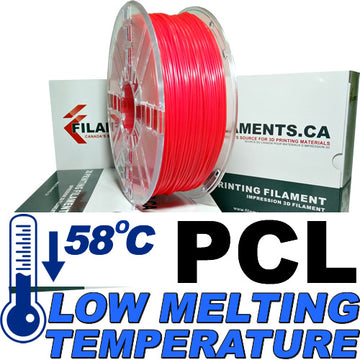 PCL Low Temperature Filament - Red - 2.85mm