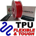 Polyurethane TPU Filament - RED - 2.85mm
