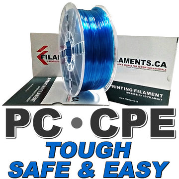 Easy PC CPE Filament - TRANSLUCENT BLUE - 1.75mm