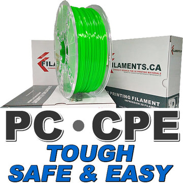 Easy PC CPE Filament - TRANSLUCENT GREEN - 1.75mm