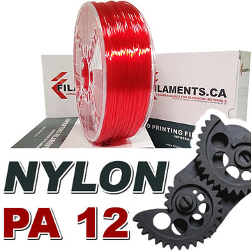 Nylon PA12 - Translucent Red - 1.75mm