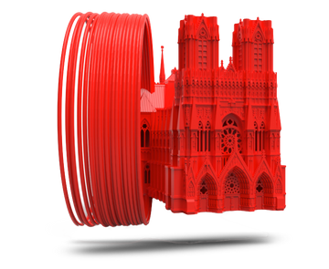FUSION Long Prints PLA - Red - 1.75mm - 0.75KG