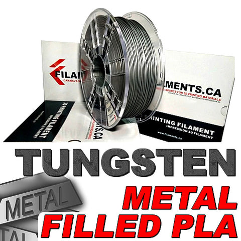Tungsten fill PLA 3d printer filament Canada