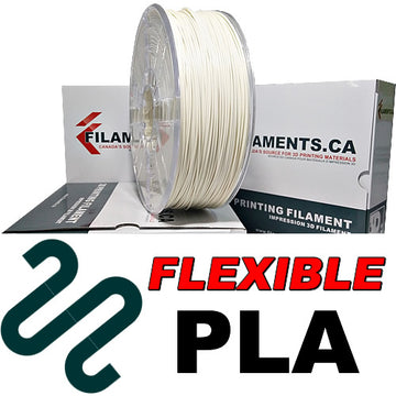 Flexible PLA Filament - WHITE - 1.75mm