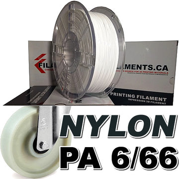 Nylon PA Filament - WHITE - 1.75mm