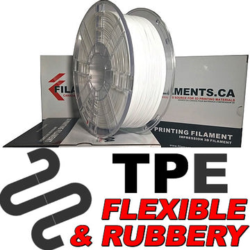 Elastomer TPE Filament - WHITE - 2.85mm