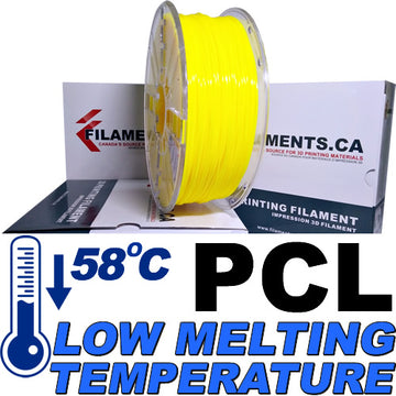PCL Low Temperature Filament - Yellow - 2.85mm