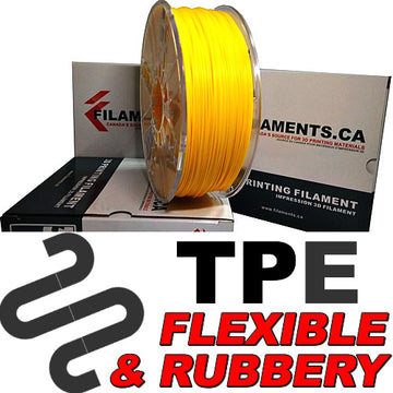 Elastomer TPE Filament - YELLOW - 2.85mm
