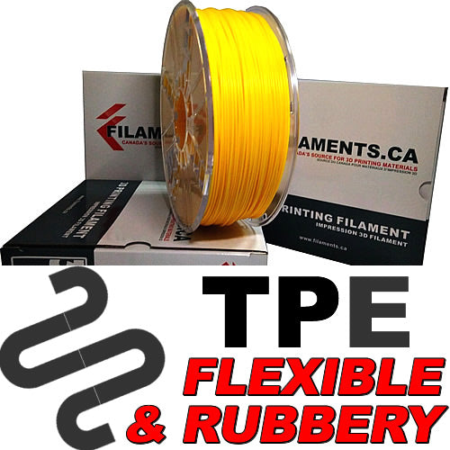 Flexible TPE Elastomer 3D Printing Filament Canada