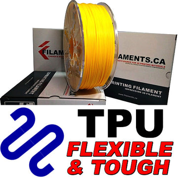 Polyurethane TPU Filament - YELLOW - 2.85mm