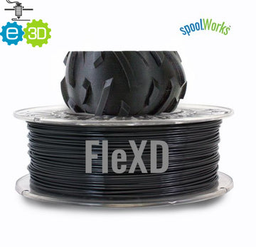 spoolWorks FleXD Flexible Filament - Black - 1.75mm