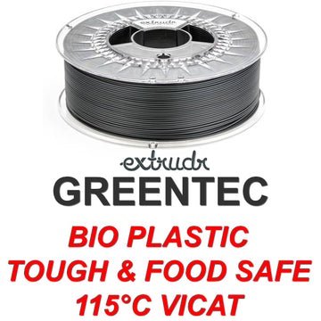 GreenTEC - High Performance Biopolymer Filament - Black - 2.85mm