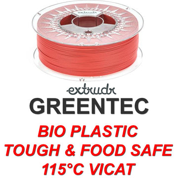 GreenTEC - High Performance Biopolymer Filament - Red - 2.85mm