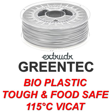 GreenTEC - High Performance Biopolymer Filament - Silver - 2.85mm