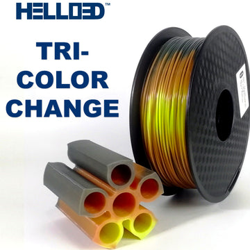 Hello3D Lava Tri-Color Changing Filament By Temp - 2.85mm