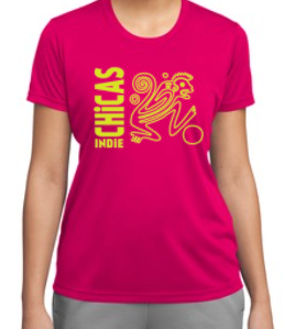 Indie Chicas Practice Jersey Pink Raspberry (Youth/Women's)