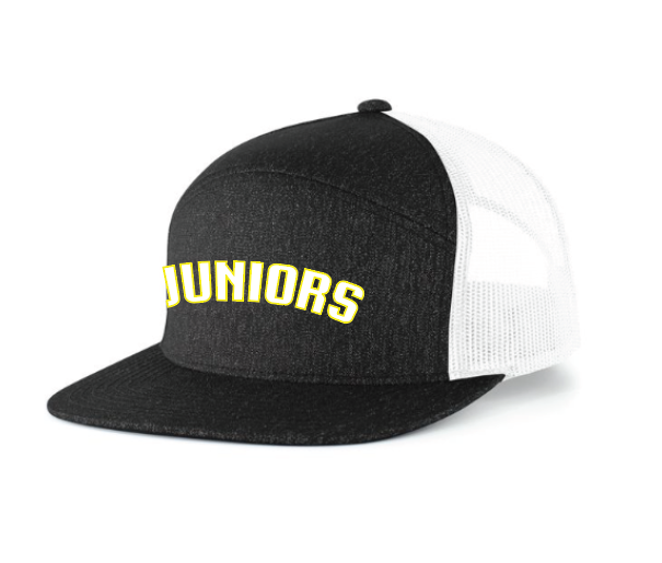 Juniors Heather 6 Panel Arch Trucker Hat