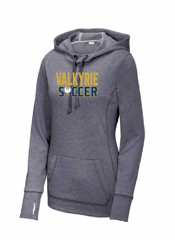 Valkyrie Sport-Tek  Ladies PosiCharge  Tri-Blend Wicking Fleece Hooded Pullover